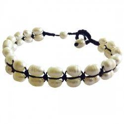 pearl row bracelet Thai Village #fairtrade #Thailand #handmade #Thaivillageinc