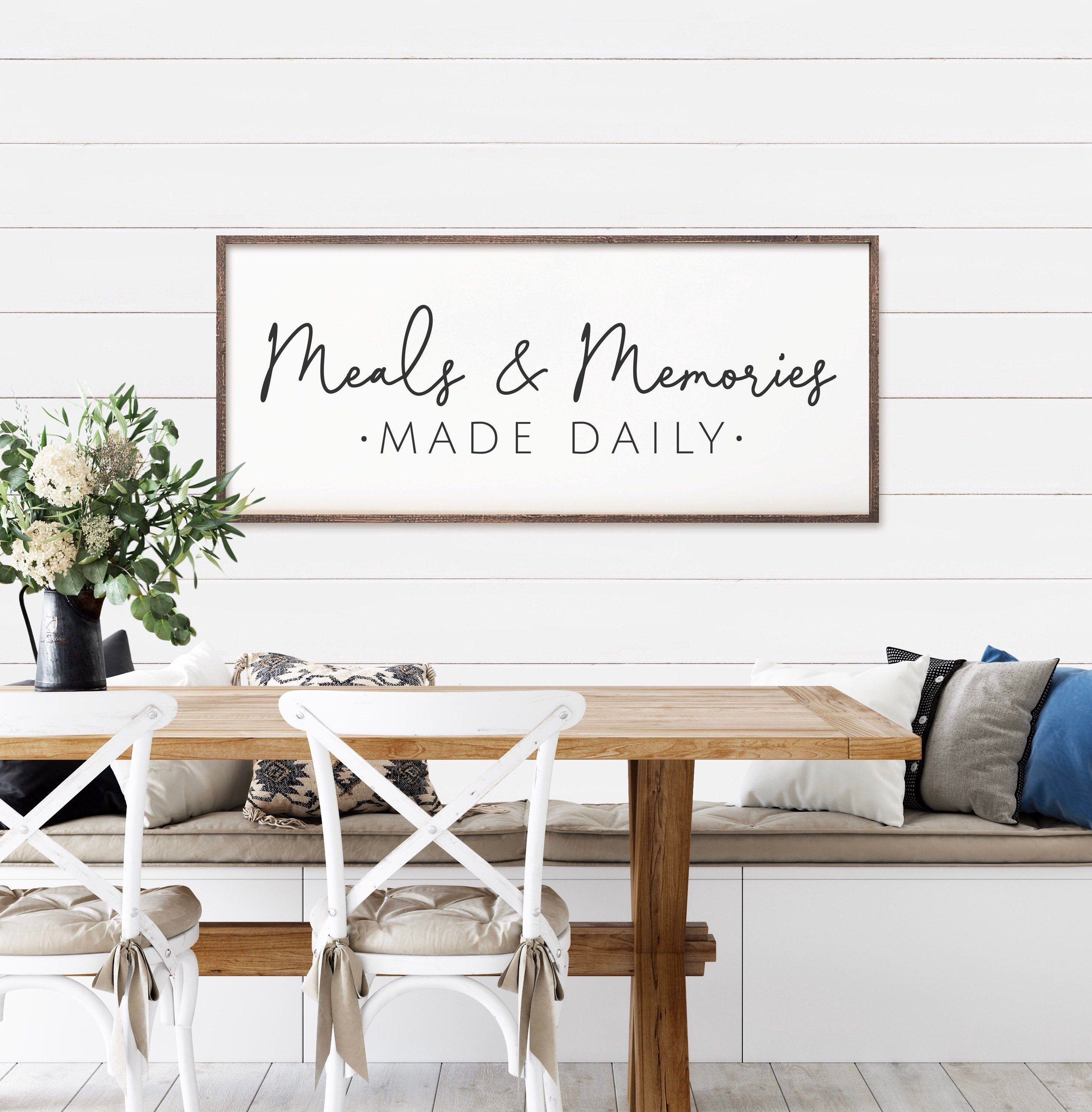 Excited To Share This Item From My Etsy Shop Rustic Style Available Meals Memories Made Daily Dining R Breakfast Nook Decor Nook Decor Rustic Dining Room
