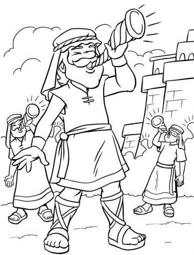Walls of jericho craft ideas / #coloring #page #jericho #