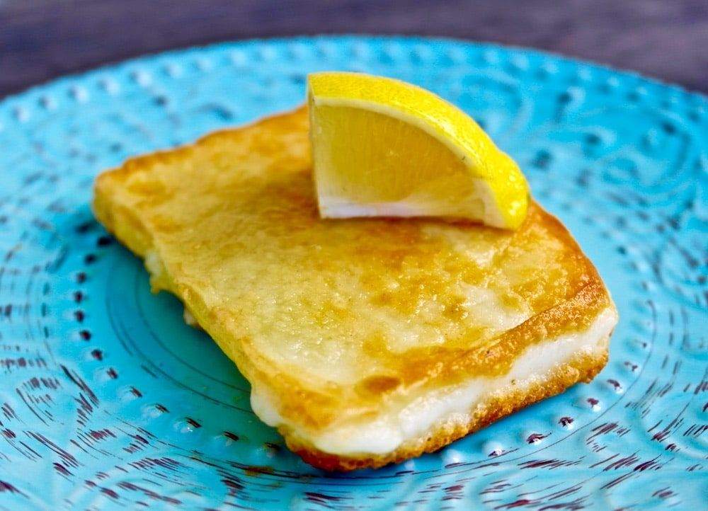 Saganaki - Authentic Greek Fried Cheese | Olive Tomato