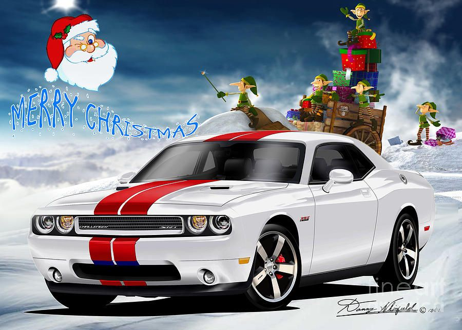 Merry Christmas Dodge Friends Drawing Mopar Holidays Pinterest