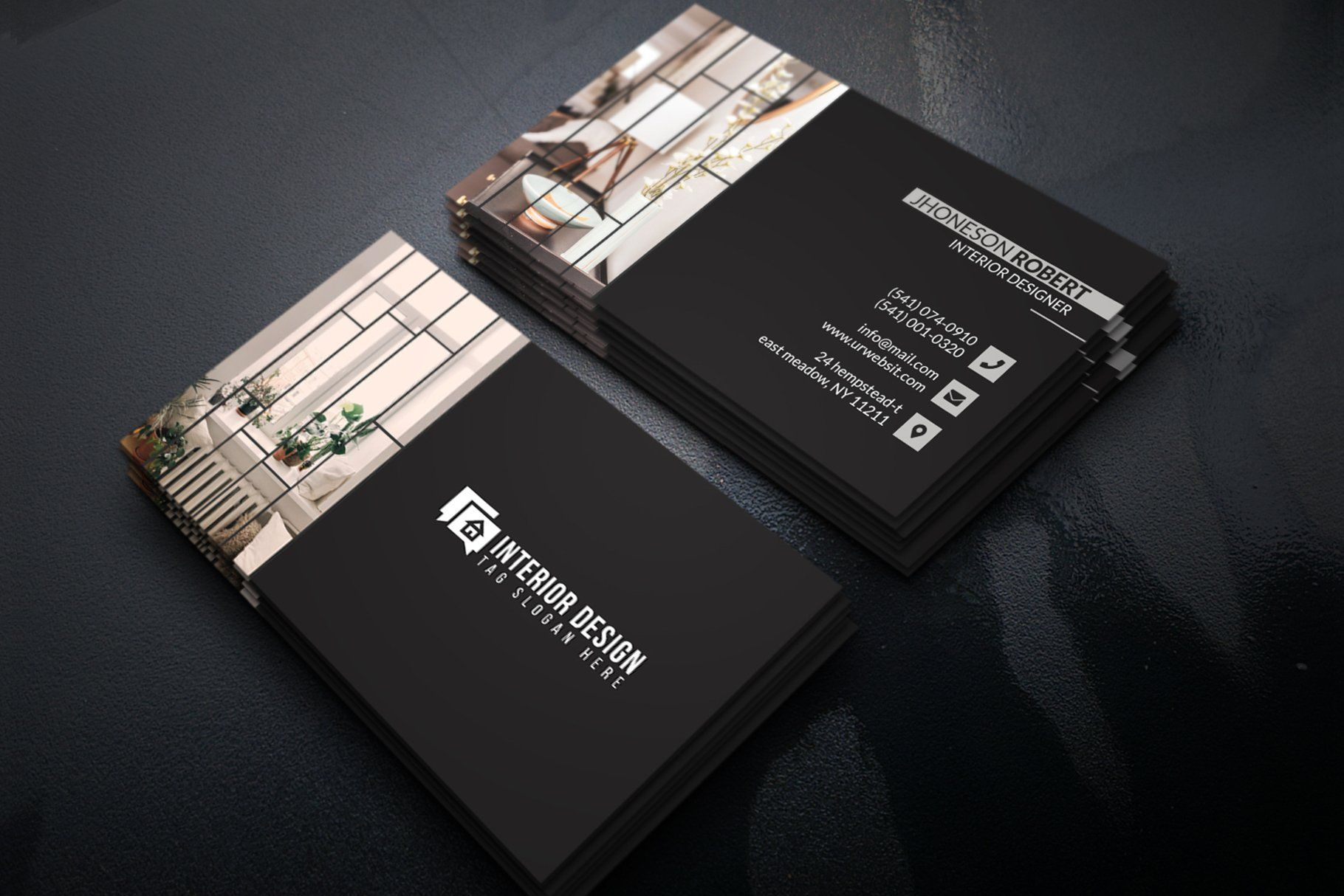 Interior Designer Business Card Interior Designer Business Card Business Cards Creative Business Cards Creative Templates