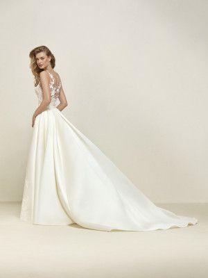 vestido de novia efecto tatuaje doble look | vestidos de novia