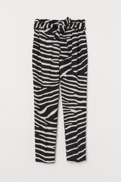 Photo of Linblanding Papirveske Bukser – Hvit – Damer   H&M USA
