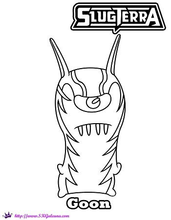 Printable Coloring Page Featuring The Slugterra Villain Goon