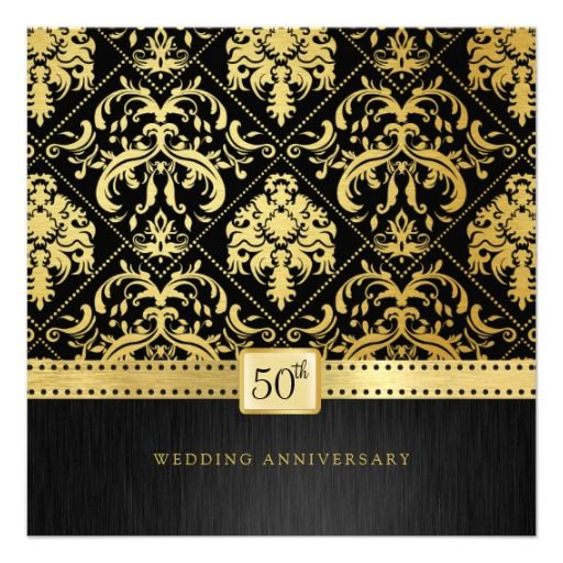 Elegant Black & Gold 50th Wedding Anniversary Custom Announcements so please read the important details before your purchasing anyway here is the best buyHow to          	Elegant Black & Gold 50th Wedding Anniversary Custom Announcements Review from Associated Store with this ...