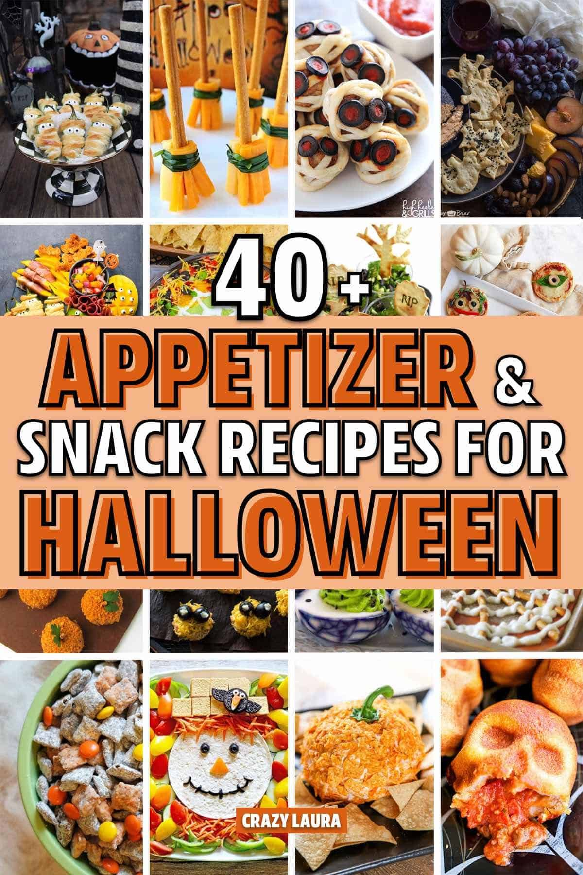 16+ Best Halloween Appetizer & Snack Ideas For 16 - Crazy Laura
