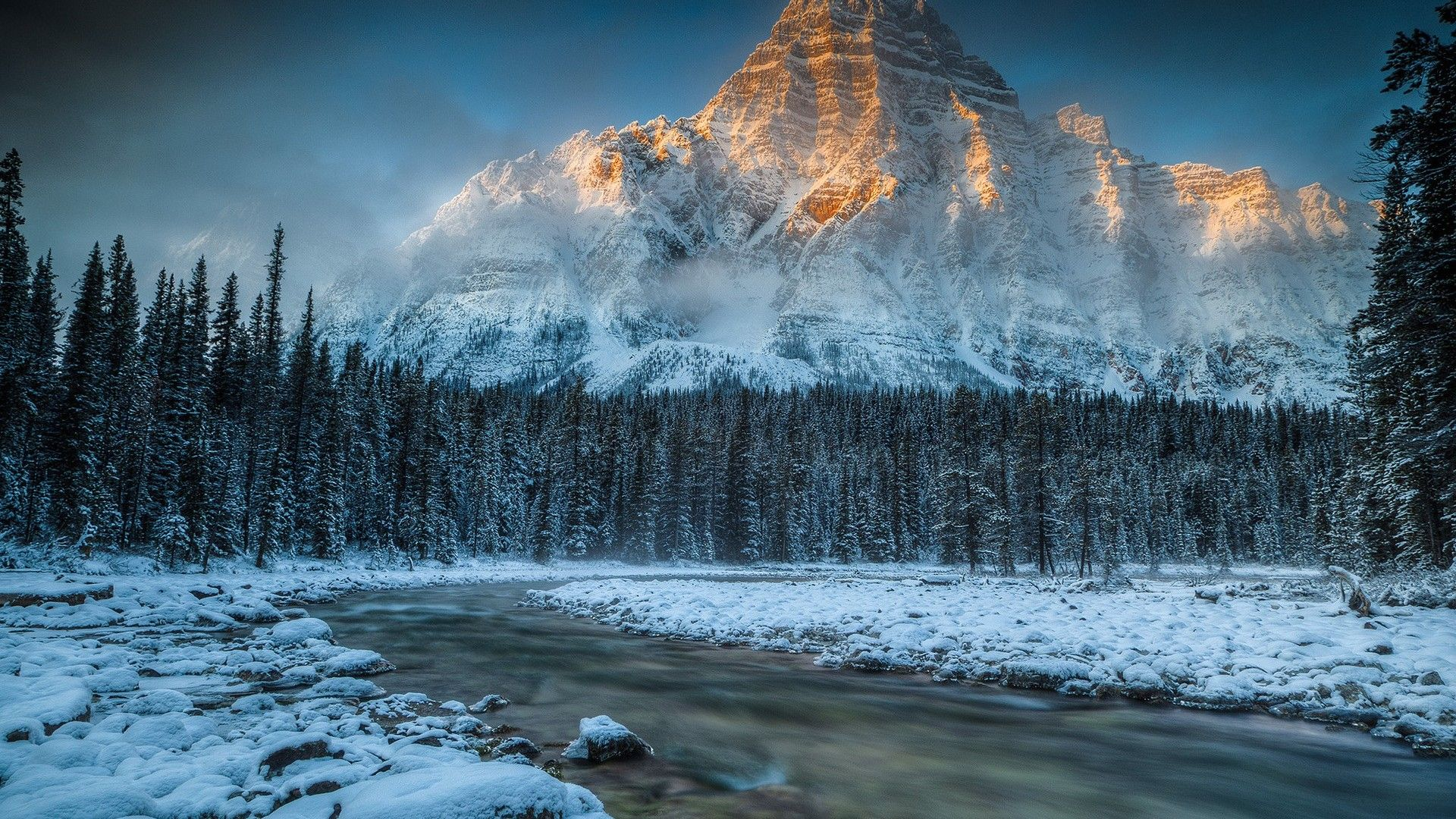 Snowy mountain nature landscape hd wallpaper fantasy - Hd snow mountain wallpaper ...