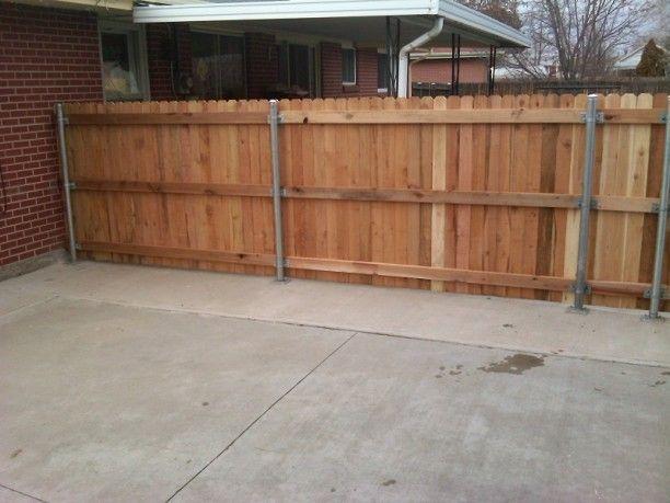 Beautify The Minimalist Living With Horizontal Wood Fence Wood