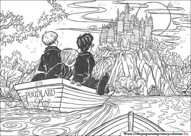Dibujos Para Colorear Harry Potter: Dibujos De Harry Potter Para Imprimir Y Colorear