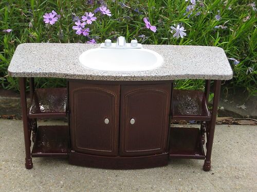 OOAK Bathroom Sink w/cabinet