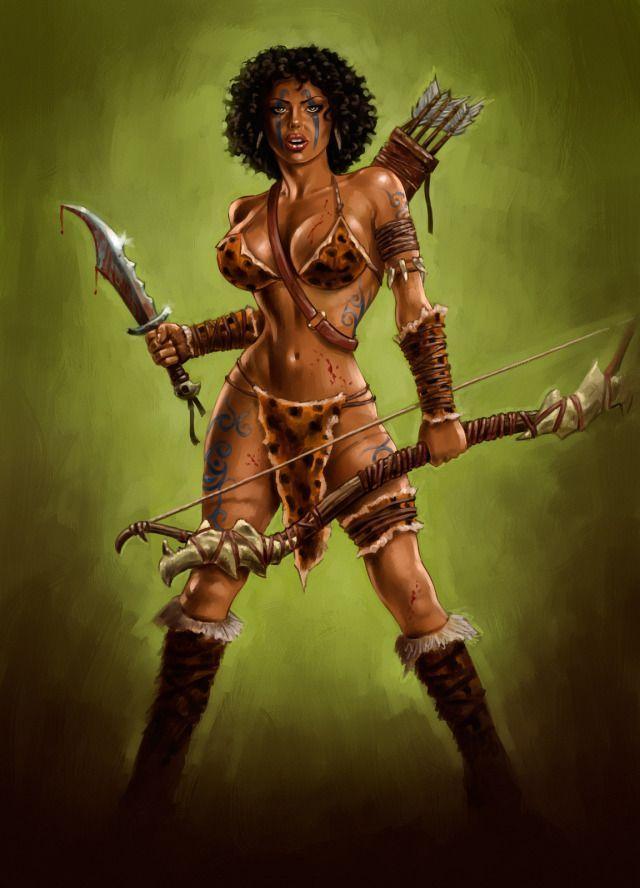 Black Amazon Women Warriors