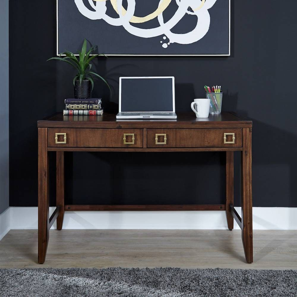 Bungalow Student Desk Medium Brown Home Styles Solid