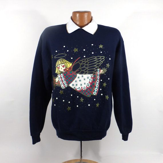 Ugly Christmas Sweater Vintage Sweatshirt Party Xmas Tacky Holiday L rbCDSaiTCB