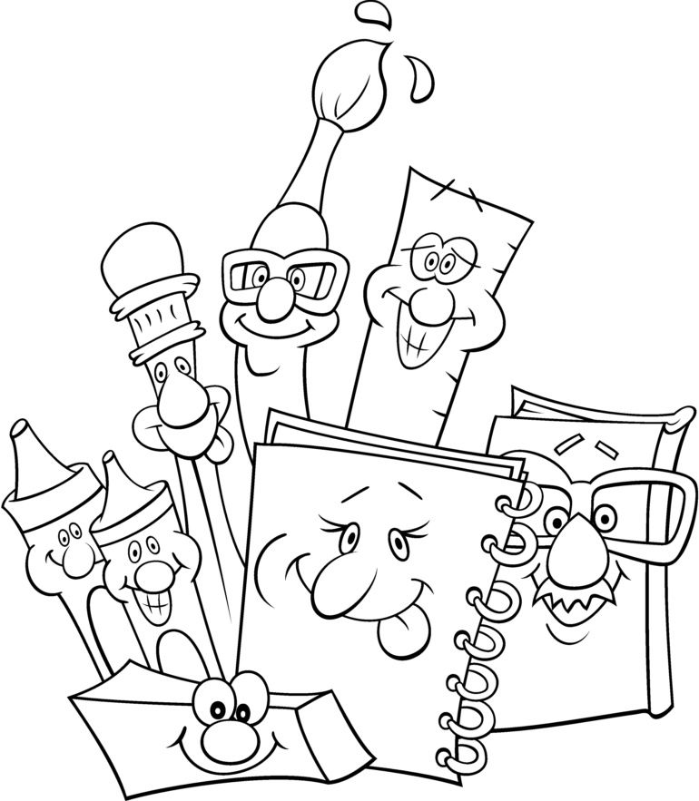 desenhos para colorir escola para colorir vyv pinterest