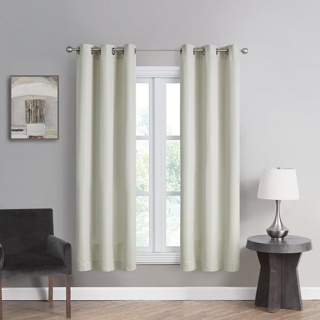 The Big One 2 Pack Decorative Solid Window Curtains Grey 40x84