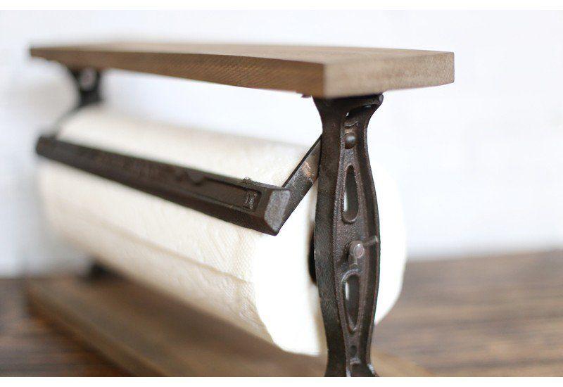 Paper Towel Holder Dispenser Tabletop Rustic Vintage Antique Farmhouse And Barnyard Décor Home Garden Decor