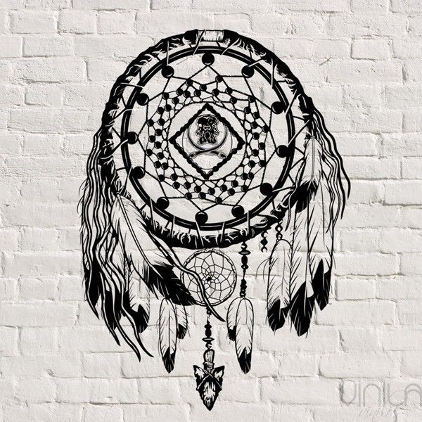 decora tu pared con este original y bonito vinilo decorativo vinilo atrapasueos