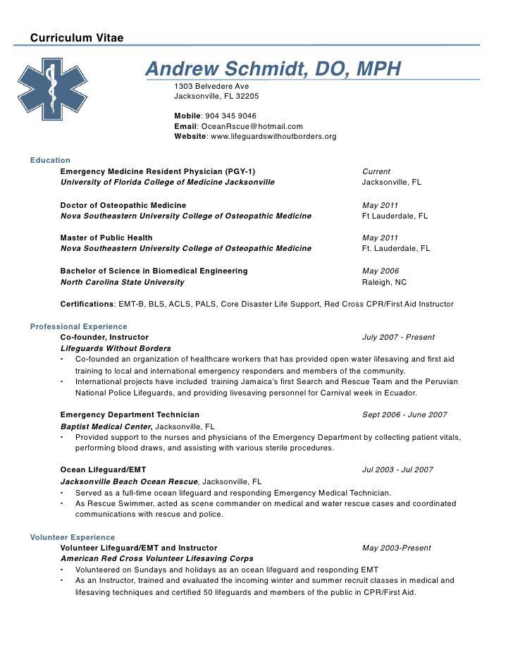 sample ob gyn physician resume