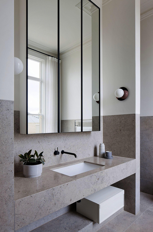Bathroom Cabinets Between Sinks One Bathroom Tiles Design