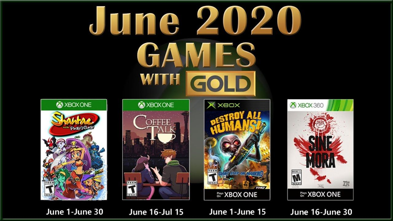 Xbox live games with gold june 2020 xbox live xbox games
