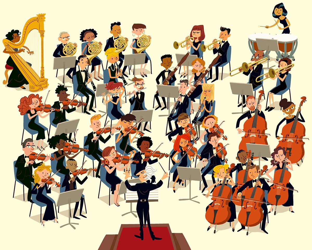 Orchestra On Behance In