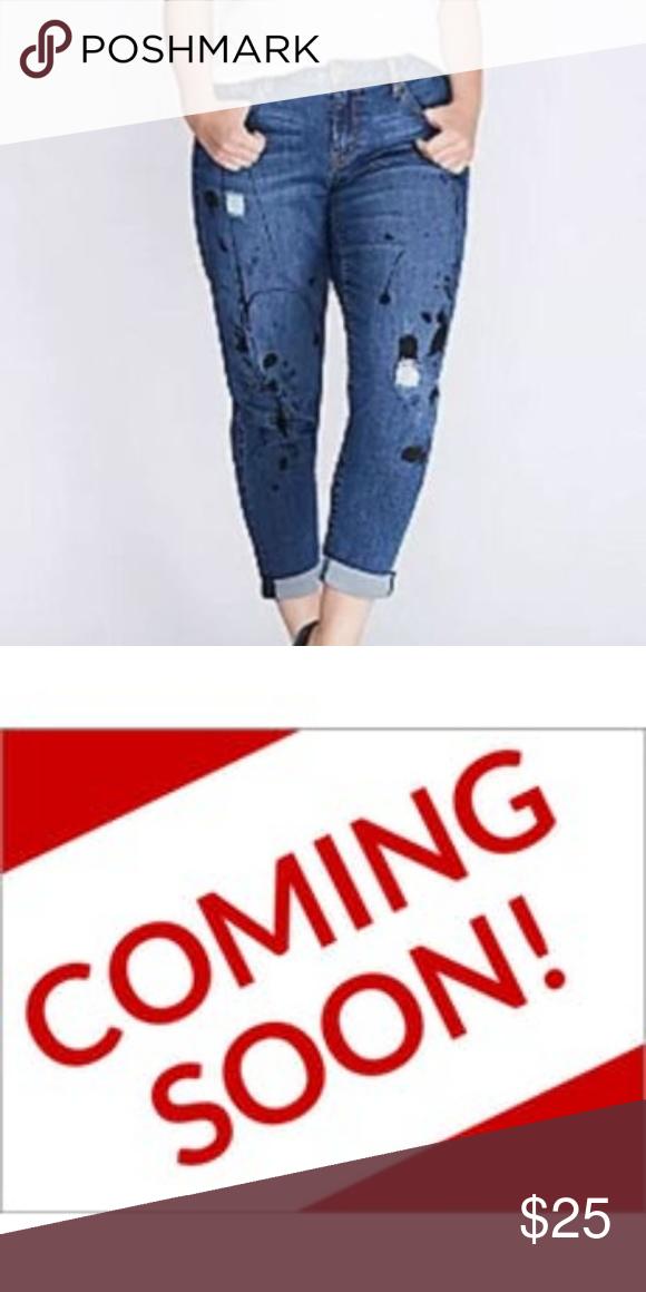 Denim&Supply Boyfriend Paint-Splattered Jeans   Denim and
