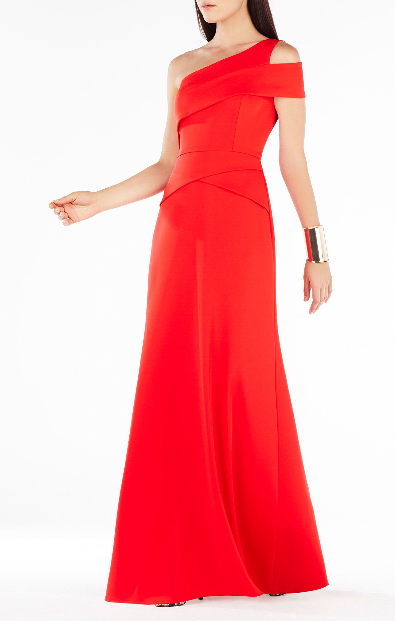 Annely One-Shoulder Peplum Gown   Ropa   Pinterest   Peplum gown ...