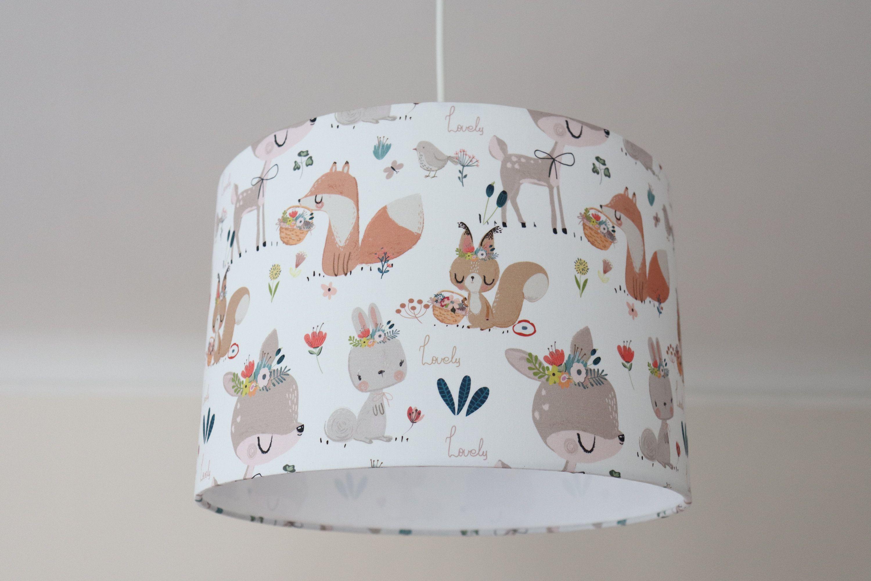 Lampenschirm Kinderzimmer, Lampe Waldtiere, Kinderlampe