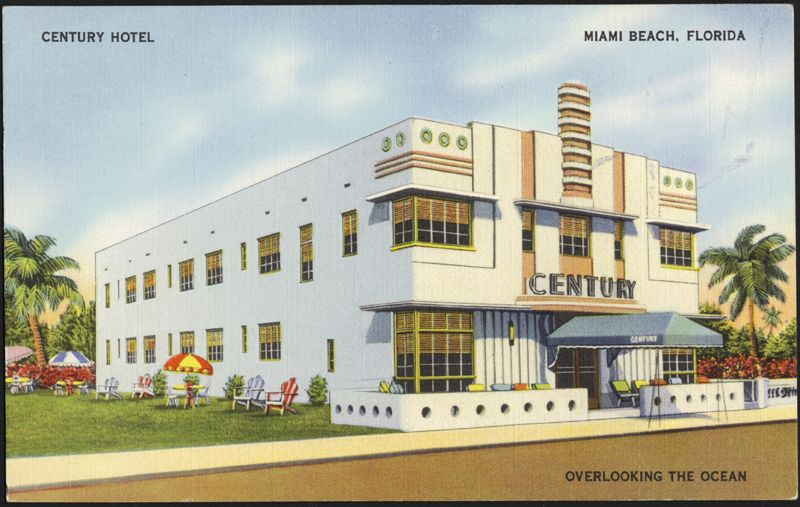 Century Hotel Miami Beach Florida Ca 1939 The Wolfsonian International University