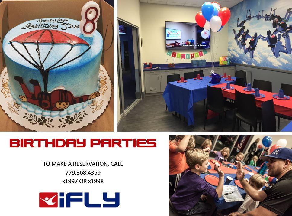 IFLY birthday invitation PRINTED or PRINTABLE Adventure Awaits Skydiving Birthday Invitation