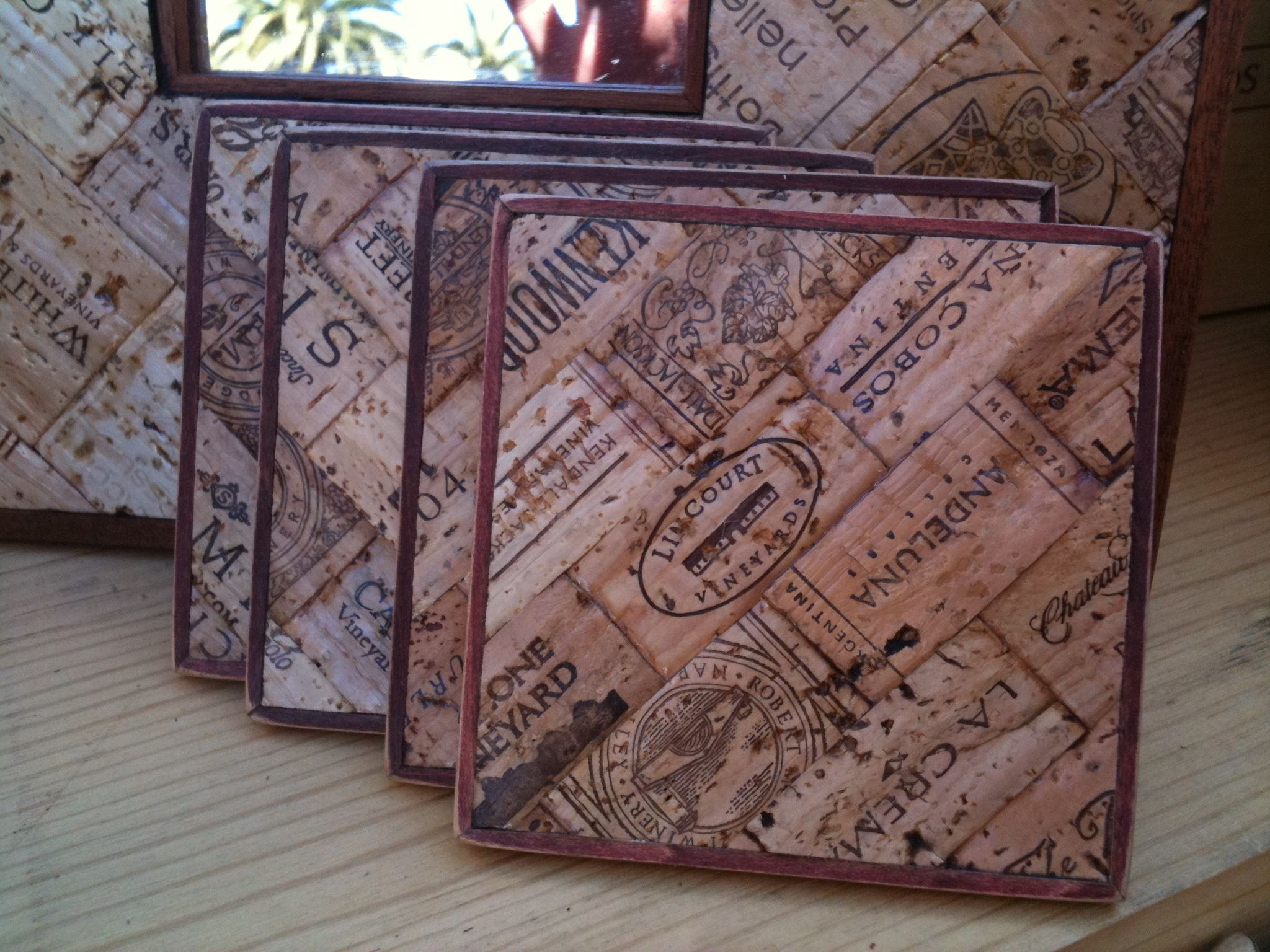Wine cork craft kits - Wine Corks Flattened Made Into A Coaster