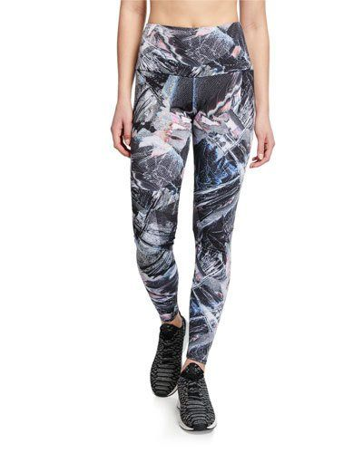 26bf1f72d185d6 TYGGE Onzie High-Rise Abstract Printed Active Leggings | Athletic ...