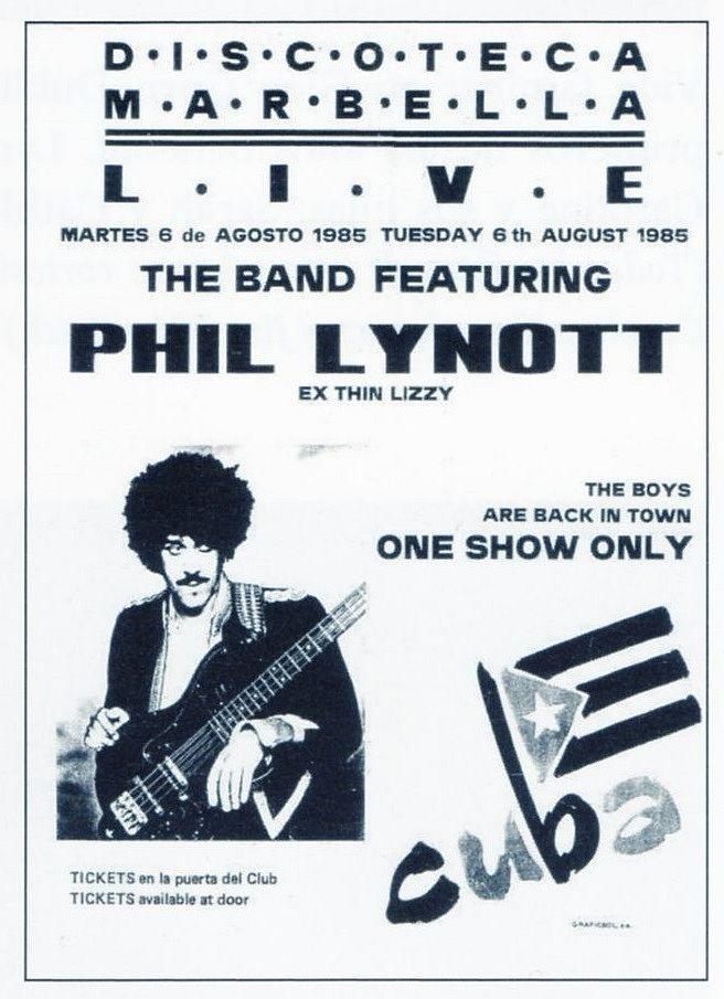 Phil Lynott Solo Thin Lizzy Phil Rock N Roll