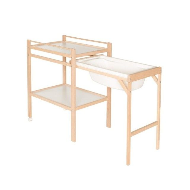 Table 224 Langer Emma Naturel Et Blanc Avec Baignoire Geuther