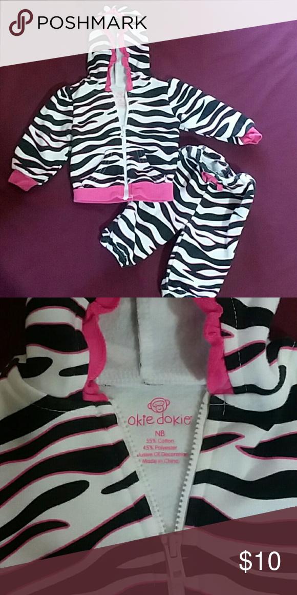 46414ef5440b Newborn sweat outfit Zebra warm and CLEAN sweats okie dokie Matching Sets