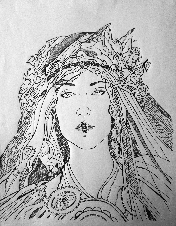 Dibujo pluma - Helsvi