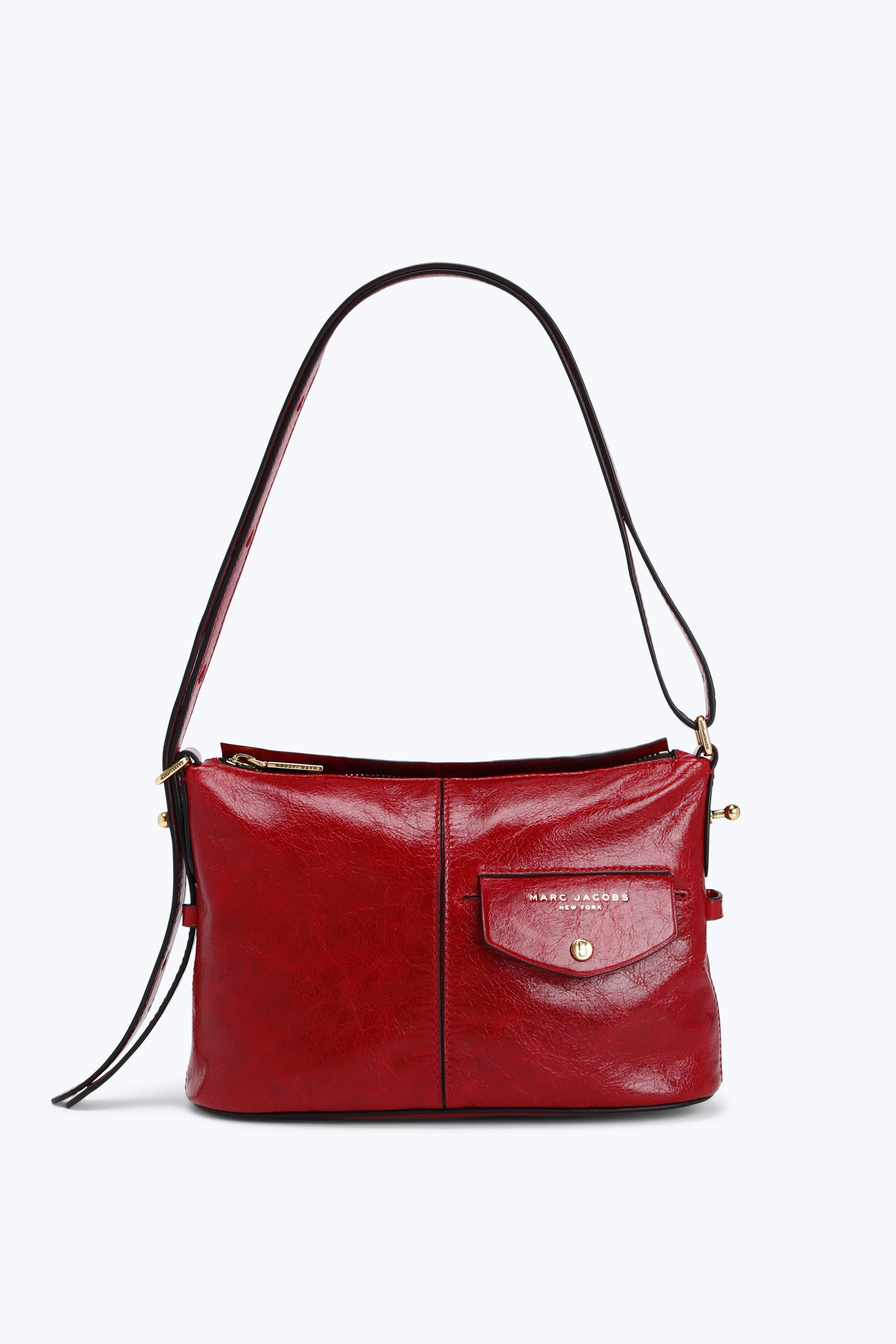 The Vintage Side Sling In Red Crossbody Shoulder Bag Shoulder Bag Leather Crossbody