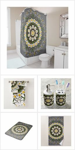 Upgrade your powder room. Custom shower curtain. Bath towel set: 30 ...