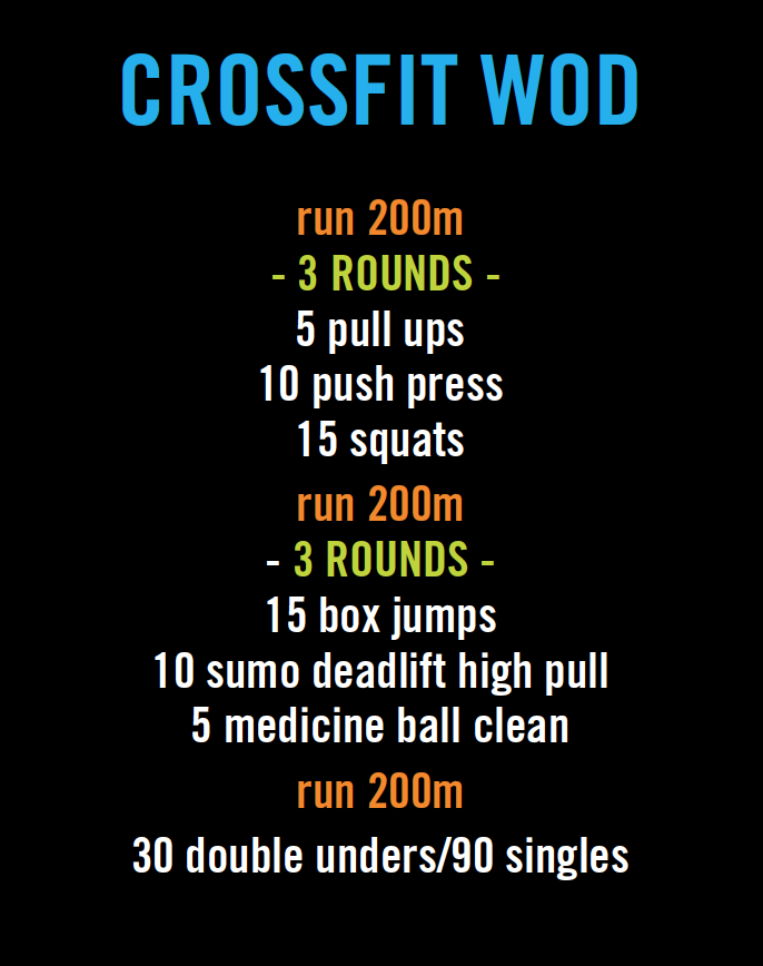 crossfit workout (WOD). Personal time: 16:36 | Crossfit