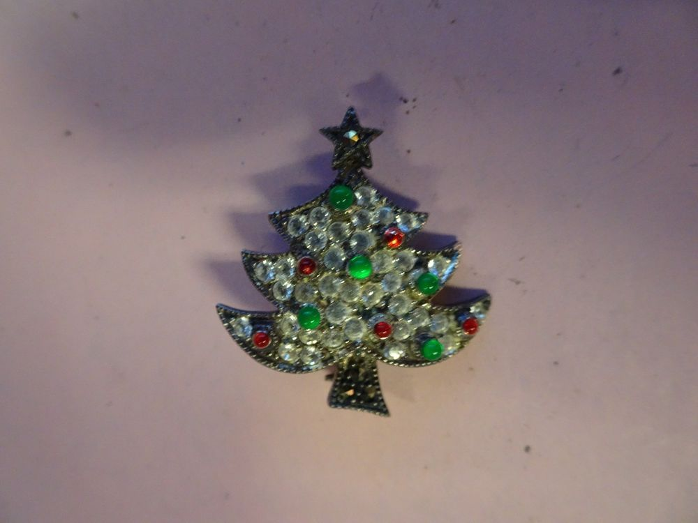 Exceptional VINTAGE Signed Judith Jack Sterling Silver Christmas Tree Brooch / Pin  Marcasite | Jewelry U0026 Watches
