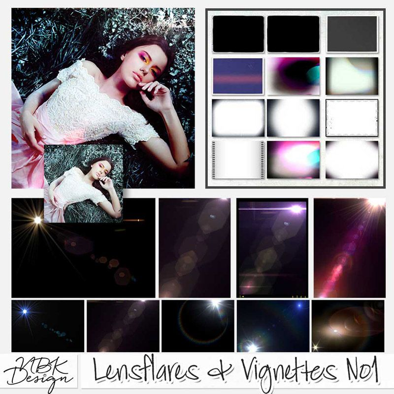 <p> Lensflares & Vignettes No1 by NBK-Design</p>