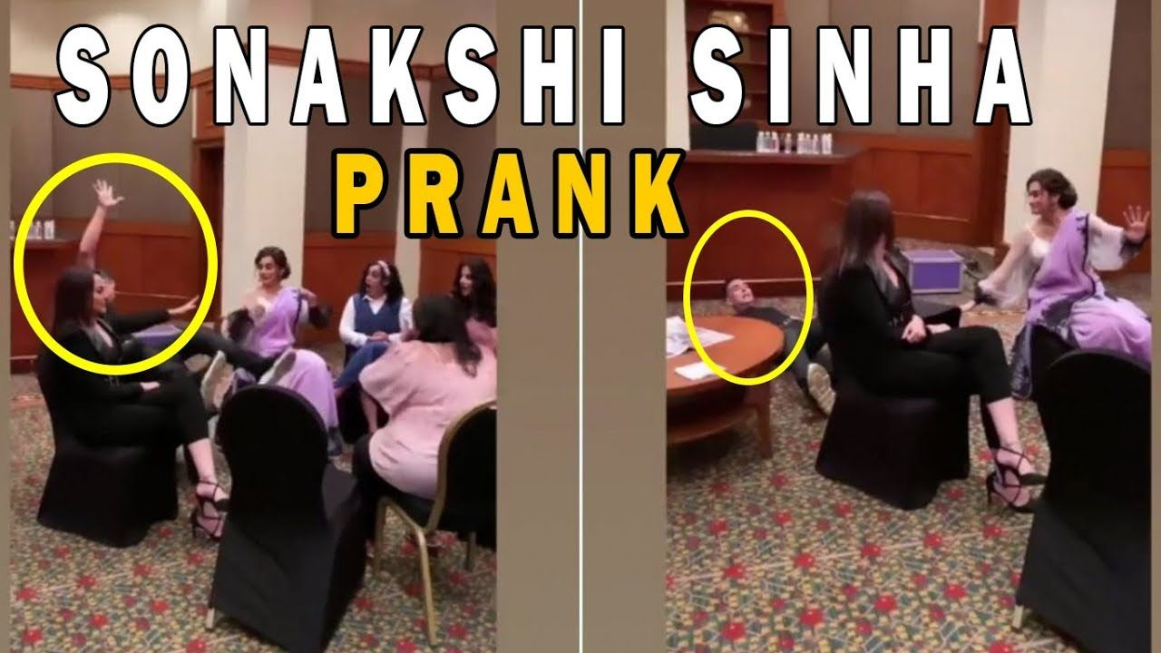 Funny Video Sonakshi Sinha Prank On Akshay Kumar https
