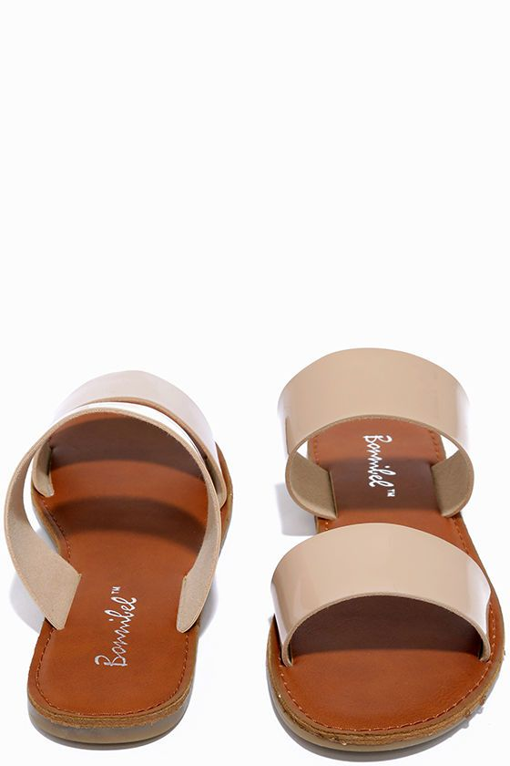ec353cef5d505 Kick back and enjoy your new purchase  the Time to Chill Nude Patent Slide…
