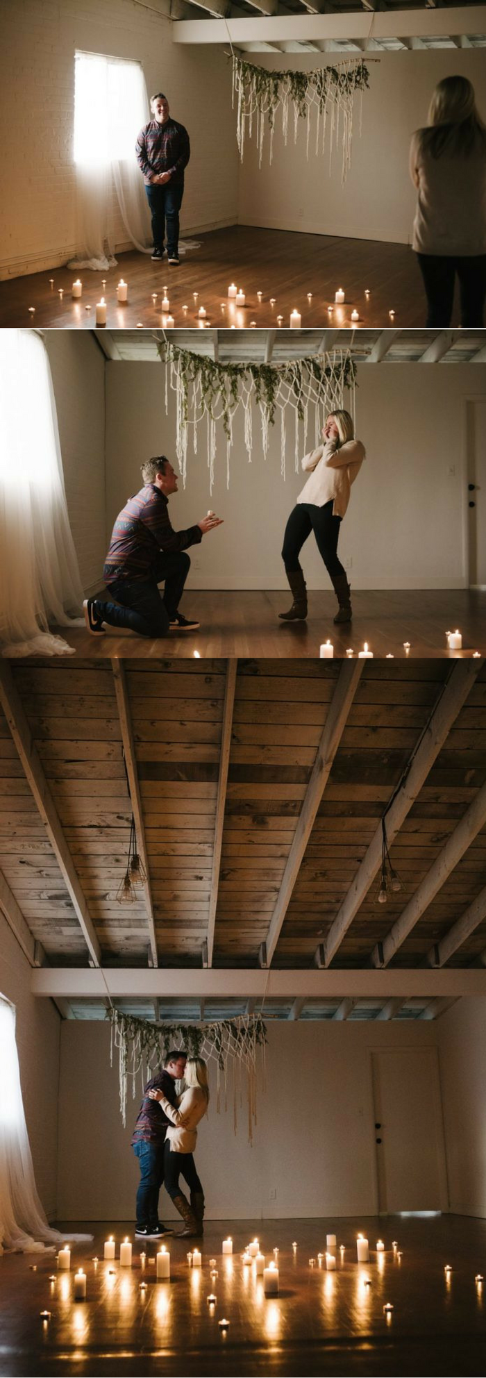 This surprise proposal is the definition of romantic! She had no idea he was waiting at the studio to propose, and every detail is perfect.