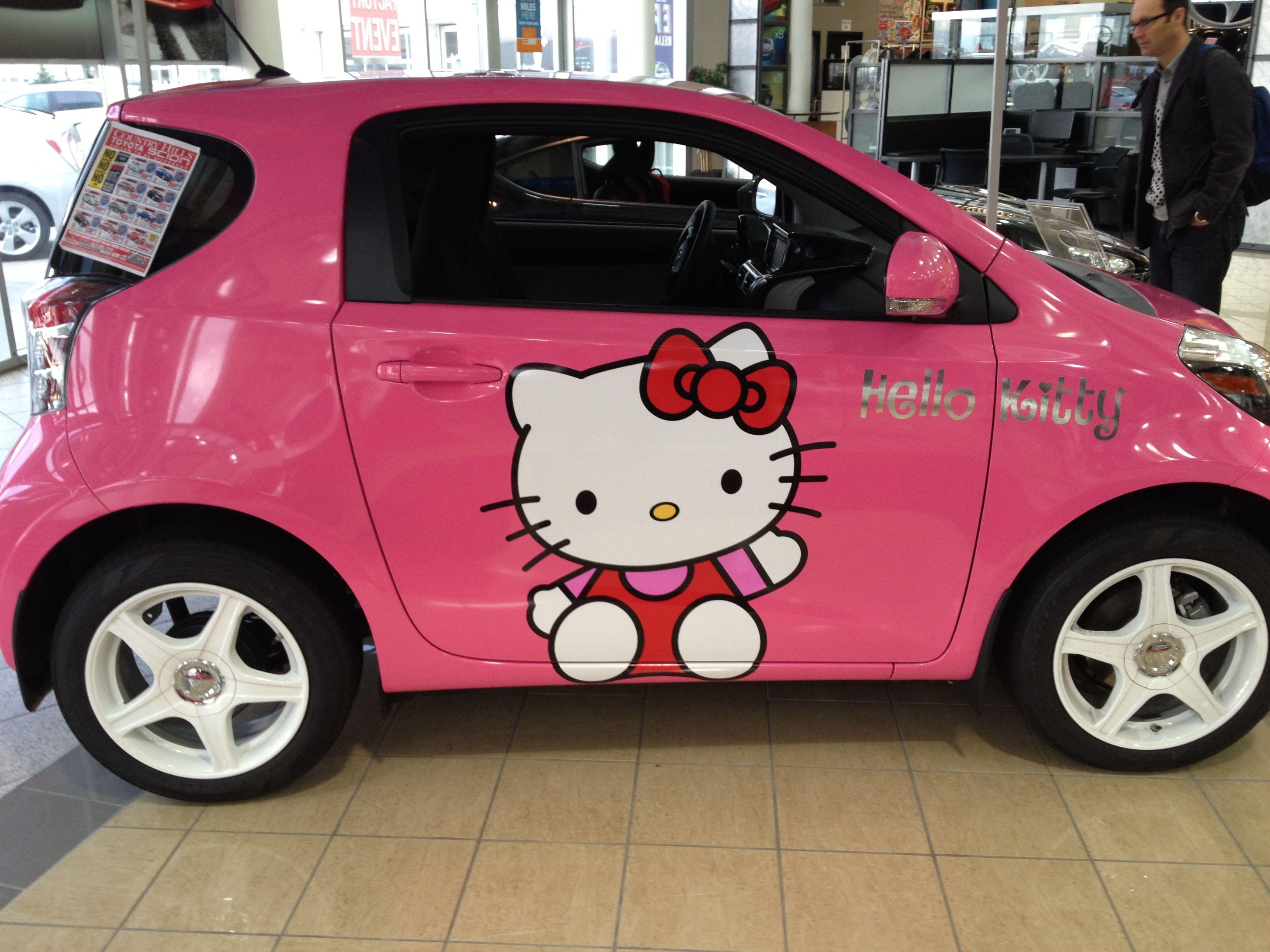 hello kitty scion iq pink stuff pinterest scion toyota and cars. Black Bedroom Furniture Sets. Home Design Ideas