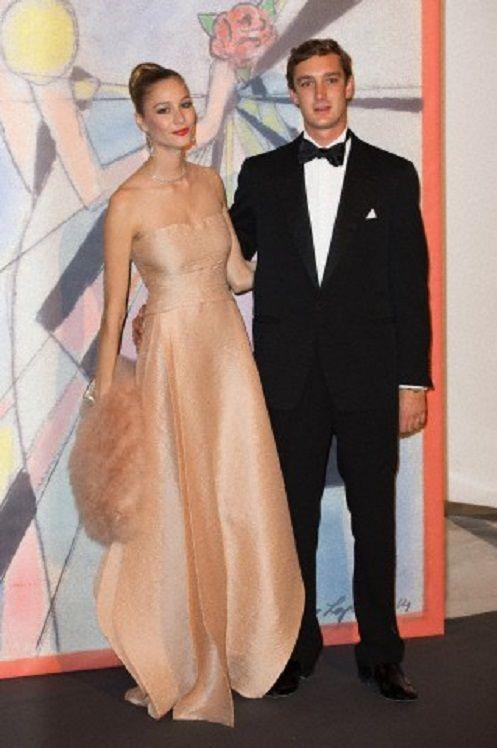 Beatrice Borromeo and Pierre Casiraghi attend the Rose Ball at Sporting Monte-Carlo on 29.03.14 in Monte-Carlo, Monaco.