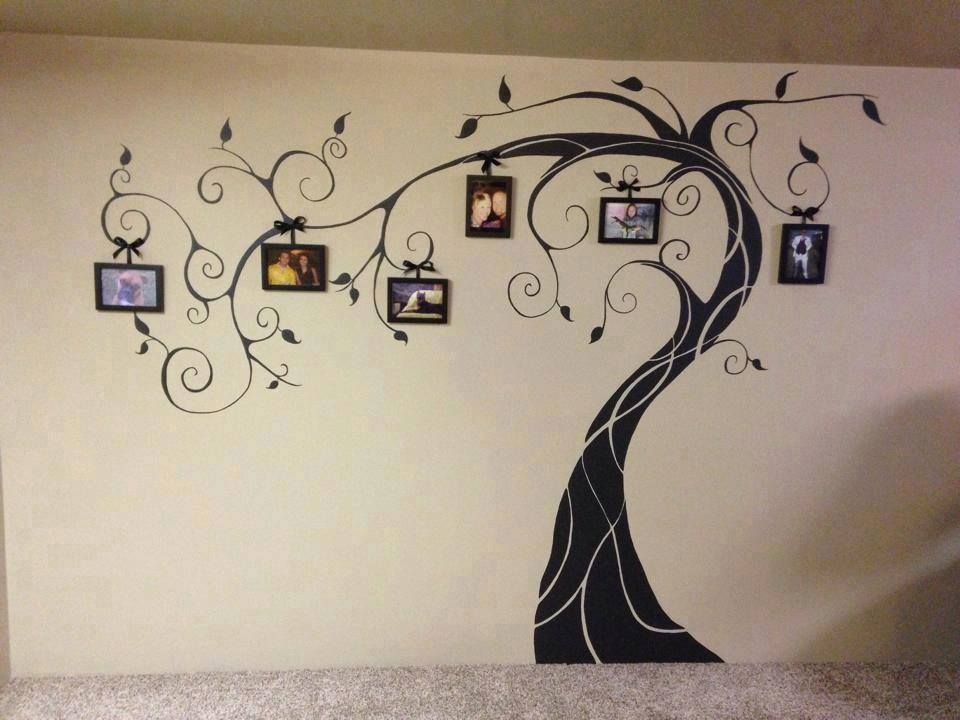 Wonderful Diy Amazing Family Tree Wall Art Parete Con Albero
