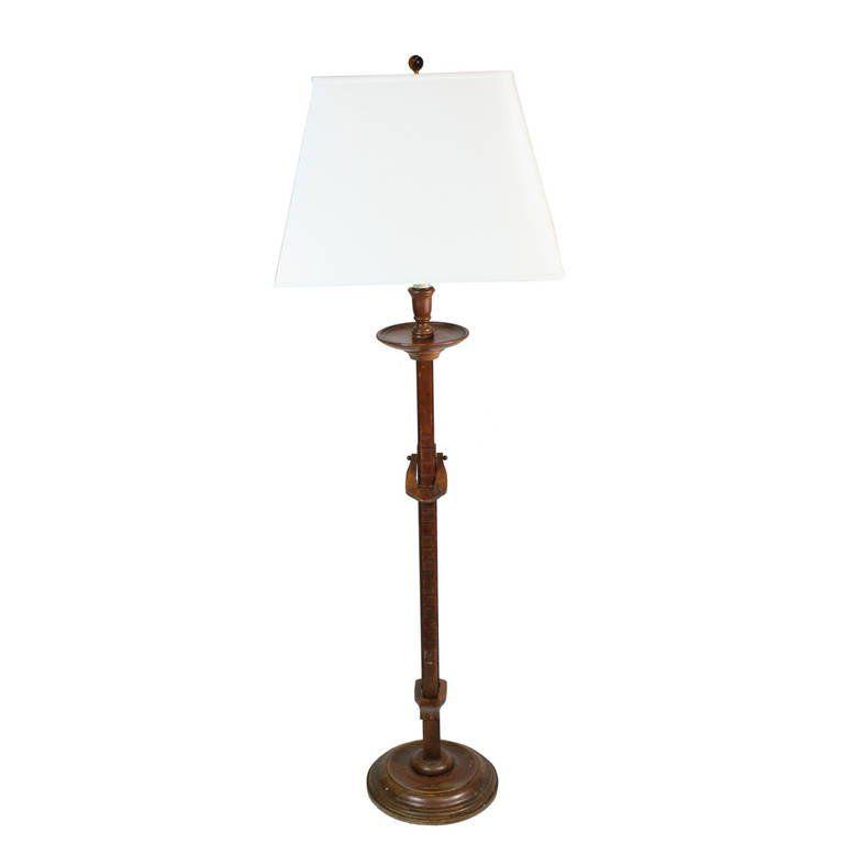 1940s Frances Elkins Prototype Mahogany Adjustable Ratchet Floor Lamp 1 Floor Lamp Vintage Floor Lamp Modern Floor Lamps