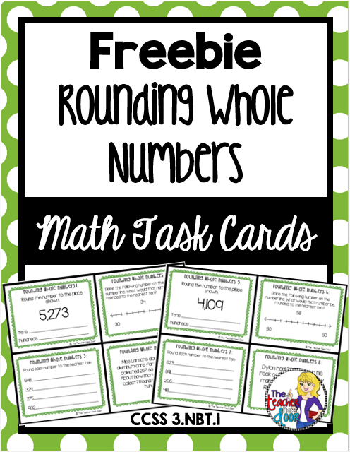 Rounding Whole Numbers Task Cards: 3rd Grade